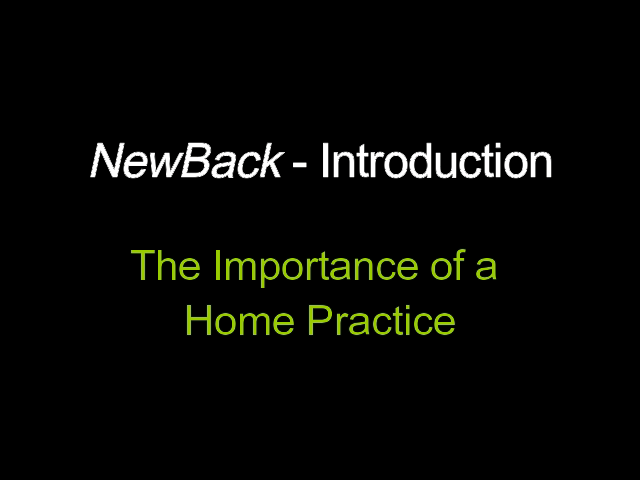 Video 3-7  The Importance of a Home Practice